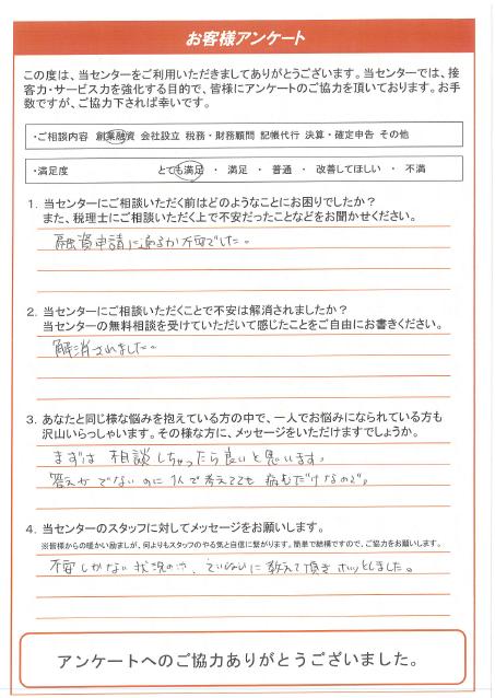 【尾張旭市:男性/創業融資】2019年8月30日