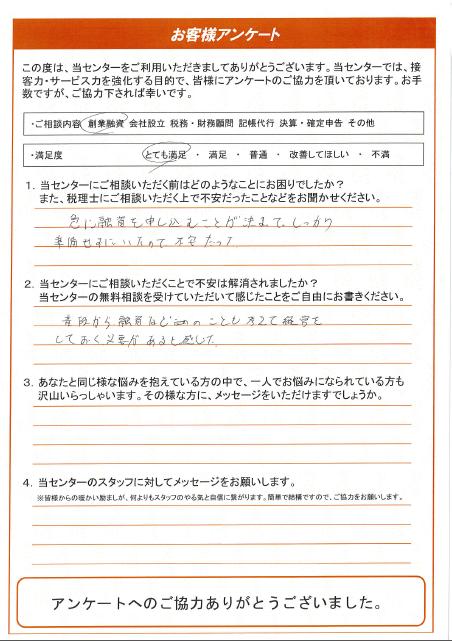 【名古屋市中区:50代女性/創業融資】2019年10月3日